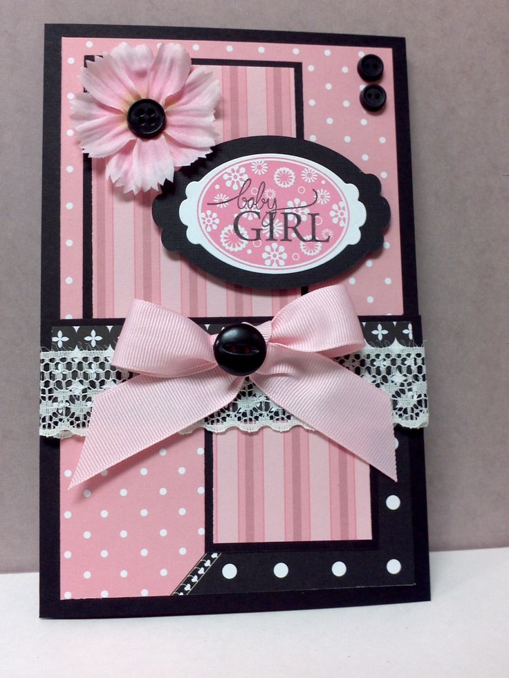 Baby girl-what a lovely card!  This would also make a lovely 12 x 12 scrapbook page border - yep!  Gonna try it!