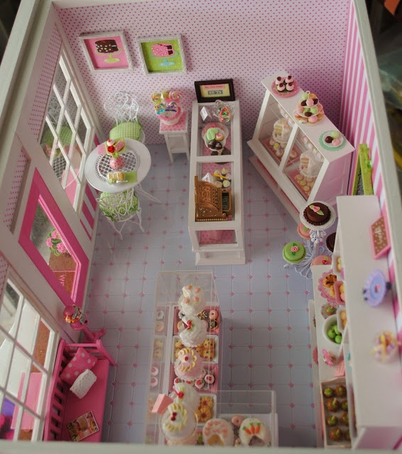 Dollhouse Bakery Shop by Anna Kerley - many detail photos posted here