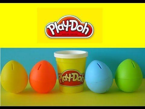 Play Doh 5 Surprise Eggs Disney Daisy Duck Happy Feet Rio Trash Wheels Tinkerbell - YouTube