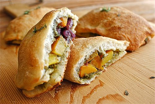 ... -Calzones with Roasted Butternut Squash and a Sage-Walnut Pesto