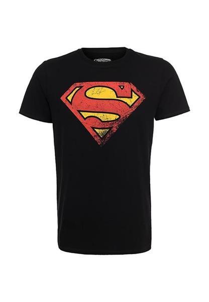 Супермен футболка черная