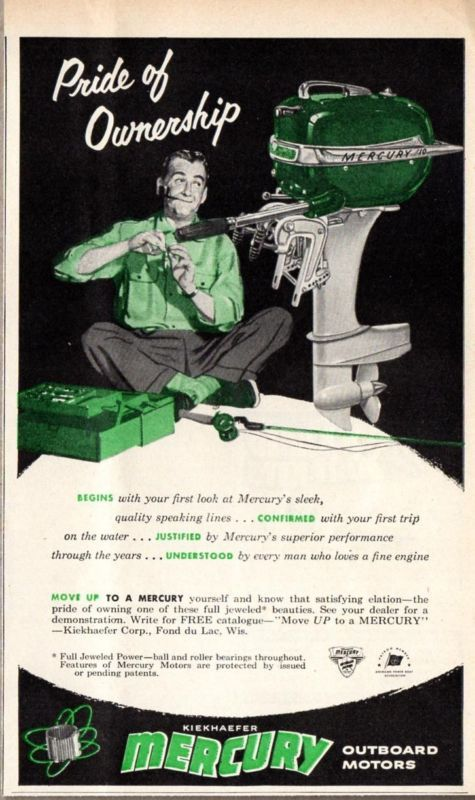 1952 Mercury Outboard Motor Ad