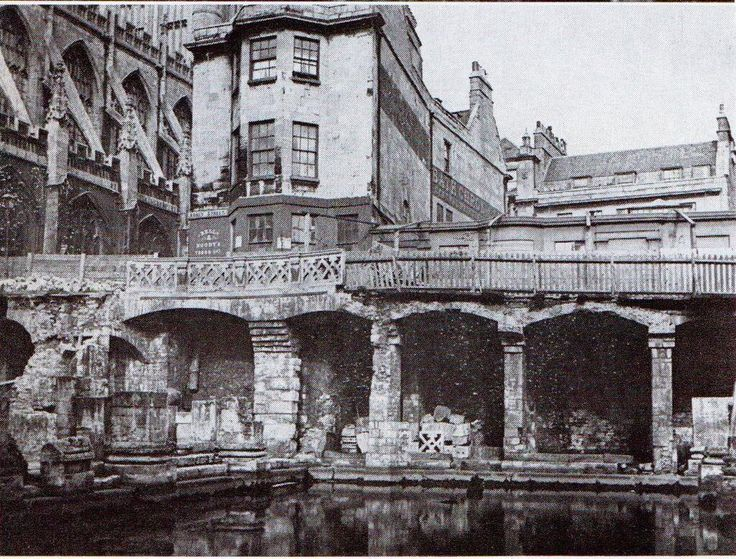 1880s view of the Kings Bath and Bath Abbey