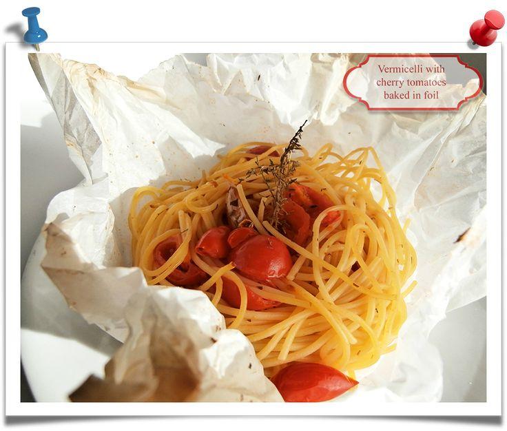 Imparare l'Arte della Cucina Quotidiana: Vermicelli wrap with cherry tomatoes