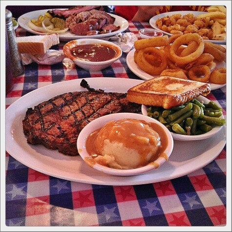 T-Bone Tom's in Kemah, Texas.  THAT...is some tasty goodness, right there!!