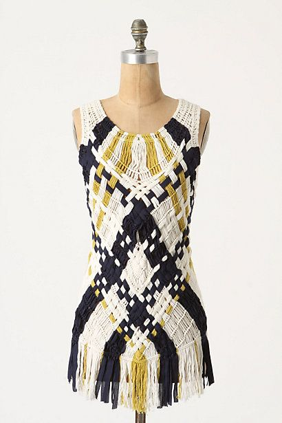 how awesome is this??? macrame argyle tunic by anthropologie