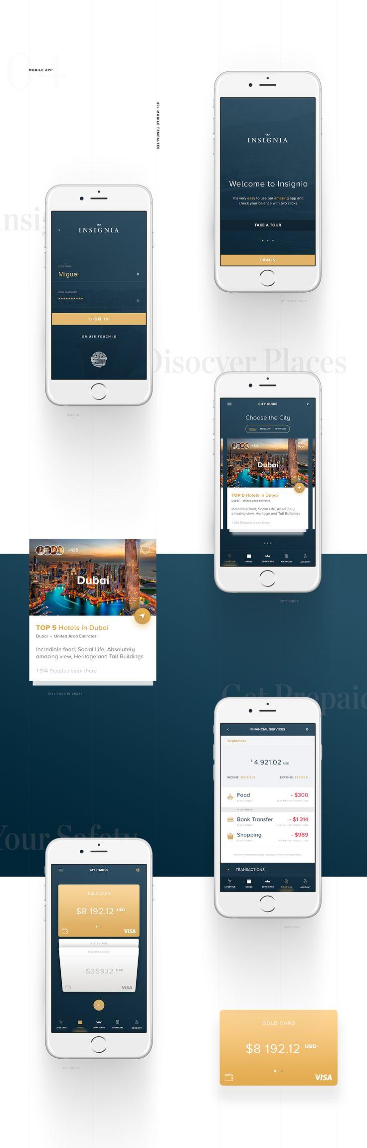 Insignia concierge (London) app & corporate site design on Behance