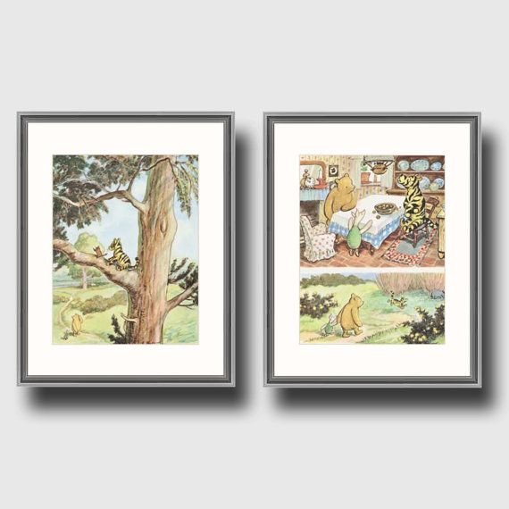 Winnie the Pooh Nursery Pooh and Piglet Art by CloudNinePrints