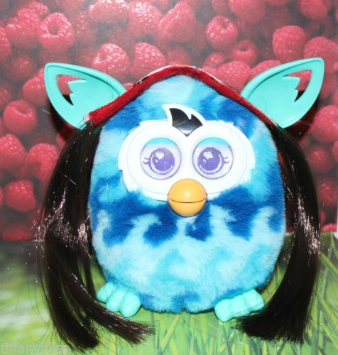 Hello Kitty Hippie Brown Hair Wig Costume For Furby or Furby Boom OOAK
