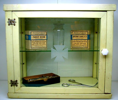 A Wonderful Antique Medical Cabinet! Perfect For Displaying Your Vintage  Medical Finds In!