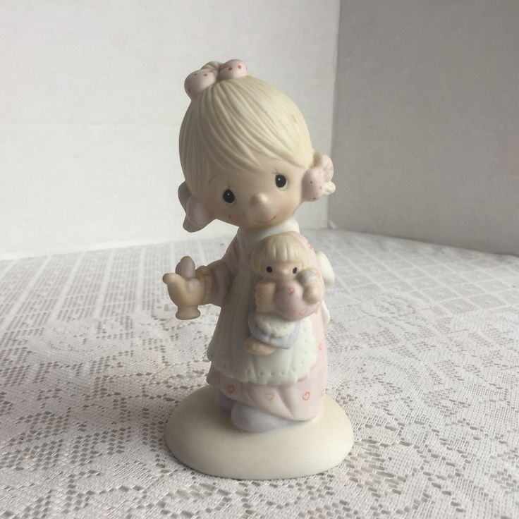 Vintage Precious Moments Figurine / Porcelain Collectible by Jonathan and David / Jesus is the Light 1977 by vintagepoetic on Etsy https://www.etsy.com/listing/494465676/vintage-precious-moments-figurine