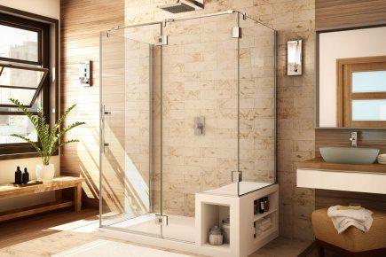 des douches avec un banc int gr de la soci t fleurco bathroom pinterest shower benches. Black Bedroom Furniture Sets. Home Design Ideas