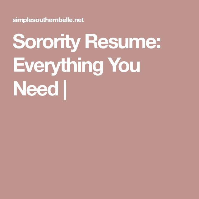 The 25+ best Sorority resume ideas on Pinterest Sorority girls - sorority resume