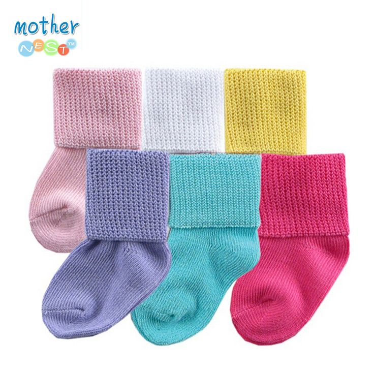 2016 Baby Socks Newborn 0-36Month Cotton Lovely Cute Solid Color 6 Pairs/lot Casual Soft Boy Girl Unisex Baby Girl Socks