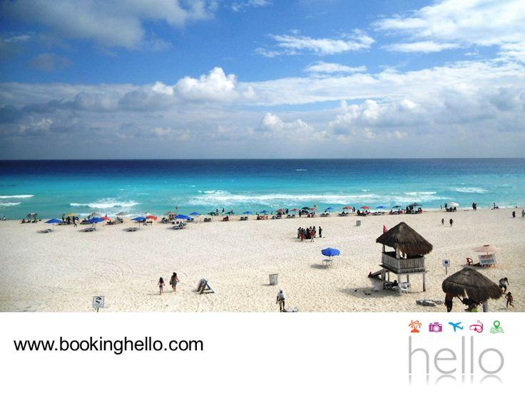 EL MEJOR ALL INCLUSIVE AL CARIBE. Playa Delfines es una de las más grandes de Cancún y se encuentra casi al final de la zona hotelera. Aquí podrás pasar un rato relajante con tus amigos, tomando el sol y contemplando la majestuosa vista del Mar Caribe. En Booking Hello te invitamos a adquirir alguno de nuestros packs all inclusive, para que planeen una visita a este lugar y conozcan más de su entorno tropical. #allinclusivealcaribe