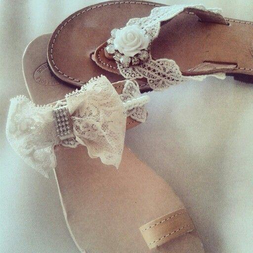 Wedding sandals /νυφικά σανδάλια * handmade by Elena Tsiara! Availiable at elenasandals.blogspot.gr / Greek sandals / ship everywhere!!! Elenasandals.blogspot.com