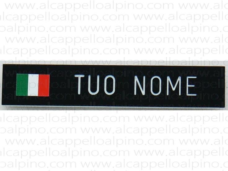 Distintivo targhetta porta nome Esercito con bandierina