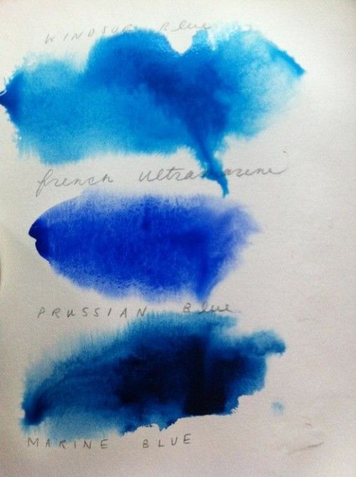 windsor blue, prussian blue, marine blue