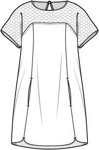 Geen patroon maar een leuk idee voor een jurk
