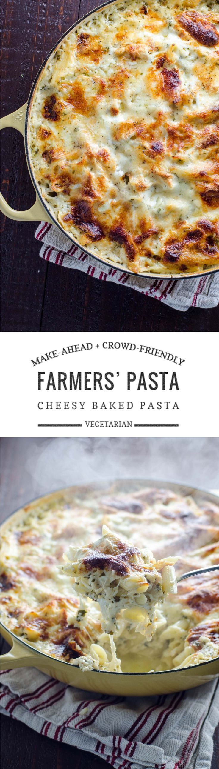 Farmers' Pasta: Vegetarian Baked Pasta To Feed A Crowd Vegetarian Pasta  Bakechristmas