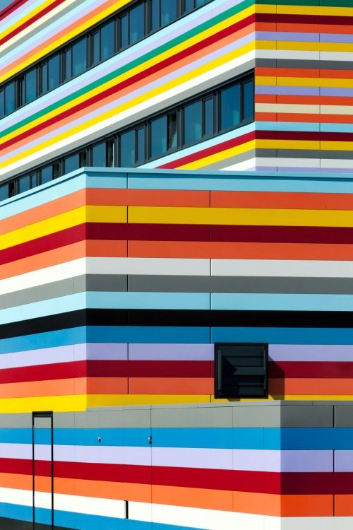 Rainbow Stripes to welcome you into the country - BER - Airport Hotel, Berlin / Photo by Jan Bitter Fotografie