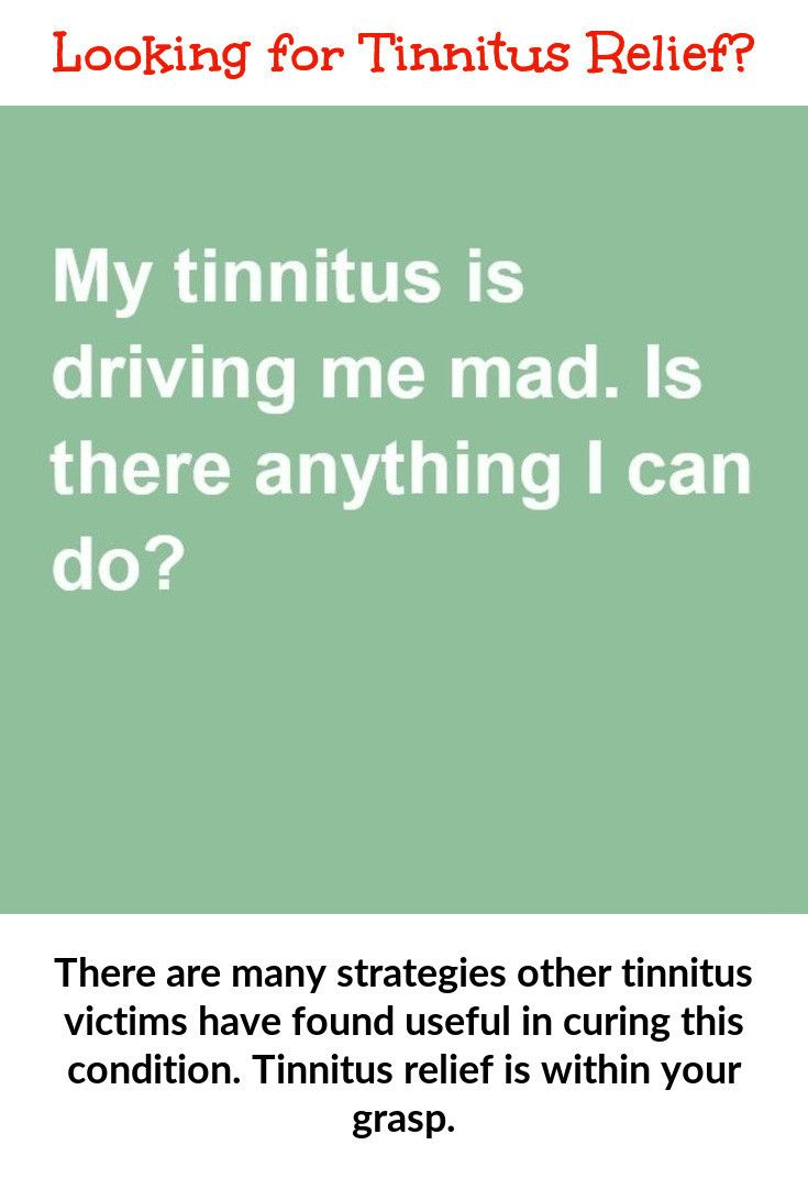 Tinnitus relief is achievable  Here are some suggestions on