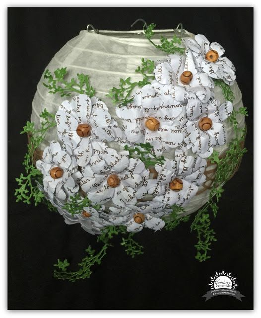 Couture Creations: Upcycled Floral Lantern by Tracey Rohweder