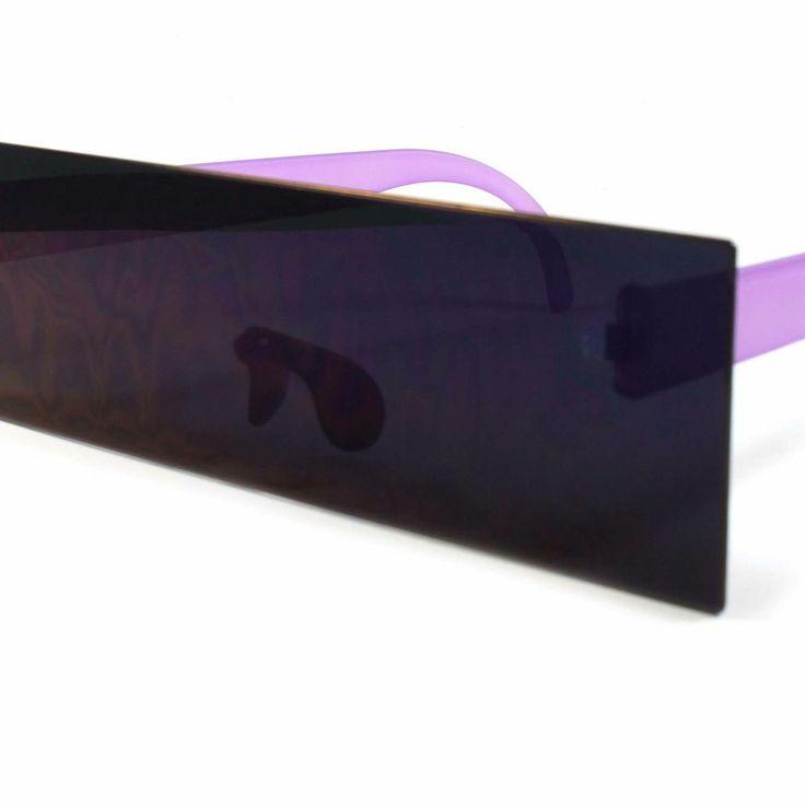 Space Robot Party Costume RaveFuturistic Flat Purple Novelty Sunglasses A84A #Flat