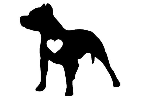 Pitbull Silhouette Decal / Sticker - Vinyl Sticker - Pitbull advocate - Car Decal on Etsy, $3.75