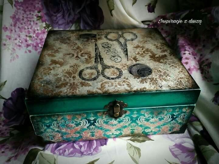 #decoupage #vintage #box