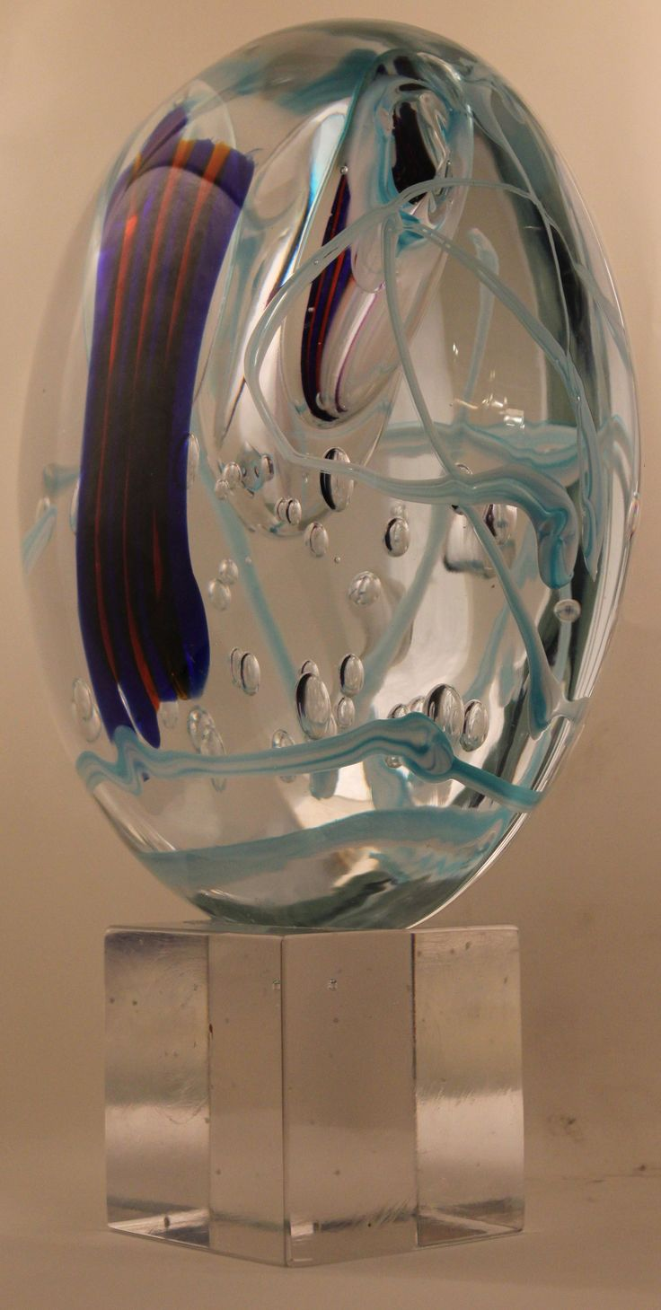 THE GLASS SCULPTURE BY ANGELO RINALDI    Multicolor glass sculpture