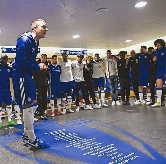 John Terry letting team know of our devotion to the cause