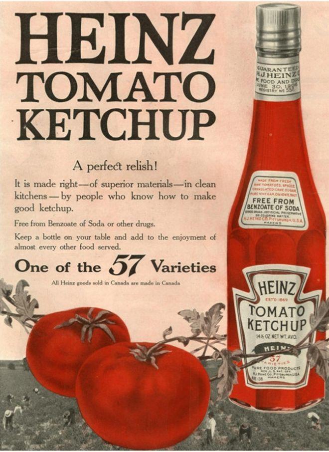 CONDIMENT: Heinz, USA (1910) vintage brand advertising
