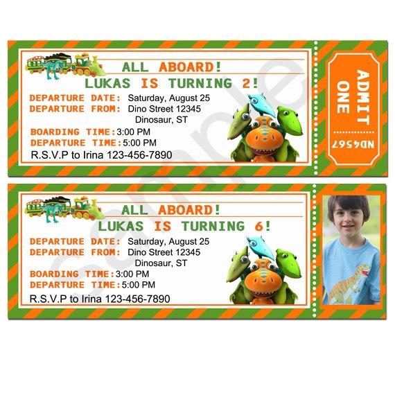 Dinosaur Train Ticket Invitation By Birthdayp On Etsy 10