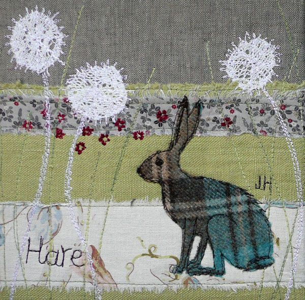 hare embroidery/ applique