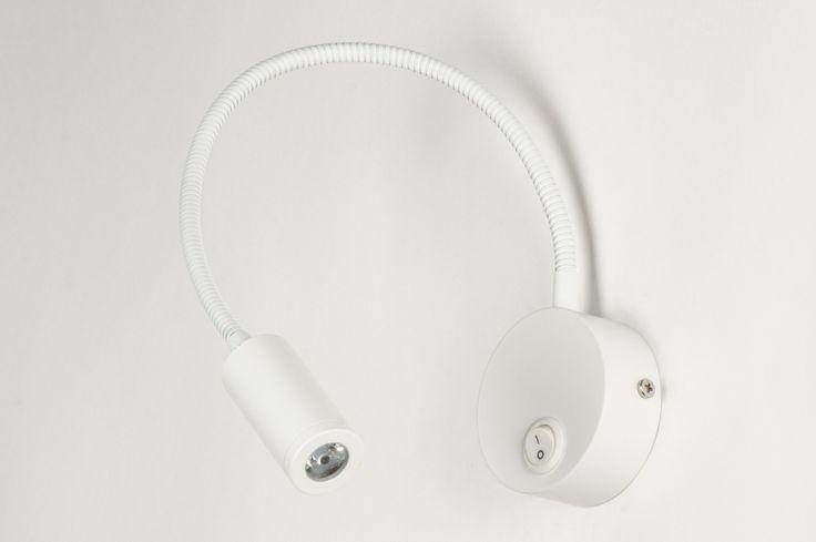 Wandlamp 72127: Modern, Aluminium, Wit, Mat