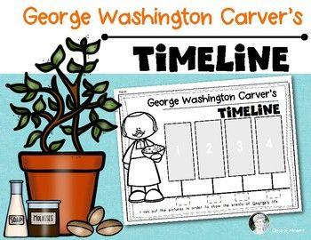 George Washington Carver Timeline  Black History Month. {Kindergarten and First Grade} Social Studies. $