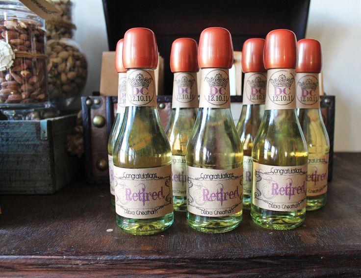 Mini Vintage Travel Wine Bottle Labels Digital/ Printable. $10.00, via Etsy.
