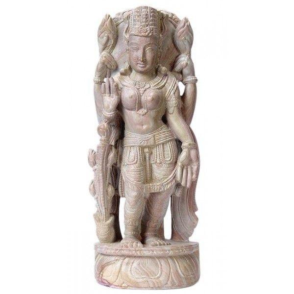 Goddess Lakshmi - Stone Statuette