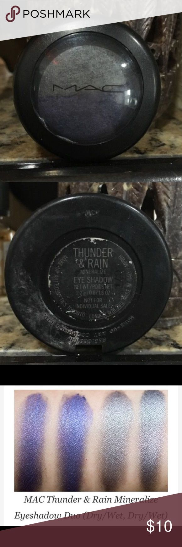 MAC thunder & rain shadow duo Used once - exterior dirty from being in my makeup bag forever . MAC Cosmetics Makeup Eyeshadow