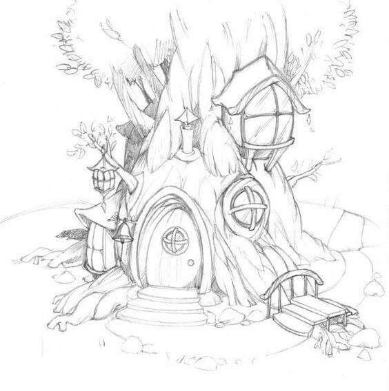 фантастический лес рисунок карандашом екатеринбурге из-за