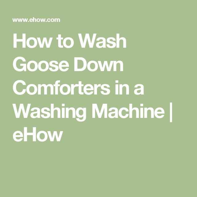How to Wash Goose Down Comforters in a Washing Machine | eHow