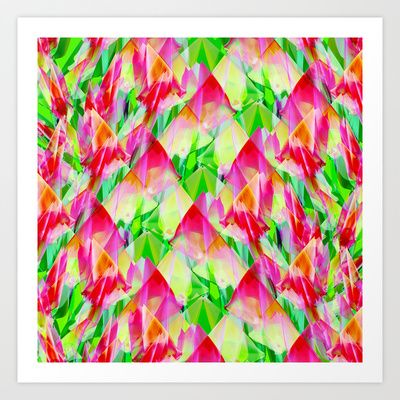 Tulip Fields #119 Art Print by Gréta Thórsdóttir - $24.96 #floral #tulips #pattern #abstract #Genus #Tulipa #Liliaceae