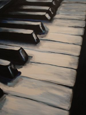 Piano Keys (4 of 4) Painting at ArtistRising.com