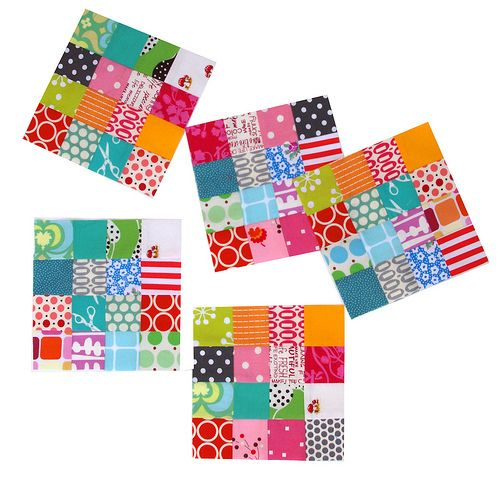 Red Pepper Quilts 'postage stamp' (16 patch) tutorial