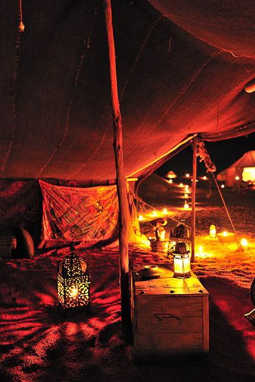 "Talk about ""glamping"". We'd pitch a tent in Reve Au Sahara, M'Hamid Morocco any day."