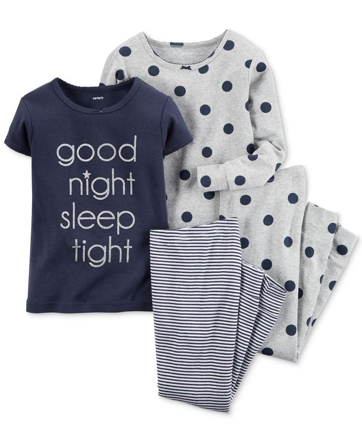 Carter's Baby Girls' 4-Piece Pajama Set