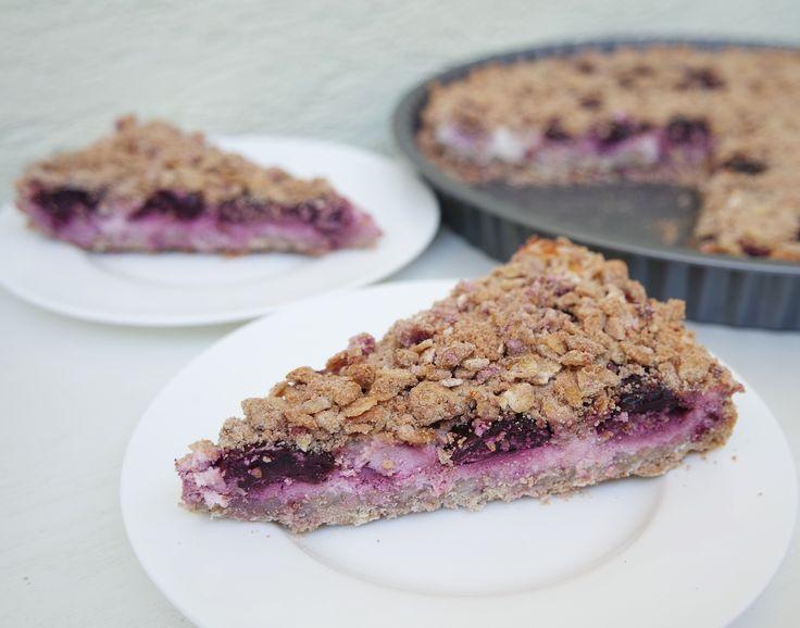 Cherry curd pie/Čerešňový koláčik s tvarohom
