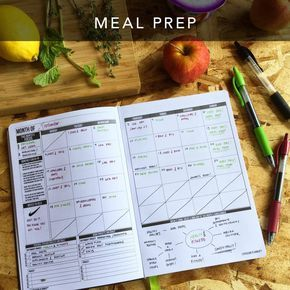 Plan your workouts & meal prep days in the monthly layout.3 reasons why a workout log is important: 1)Seeing the big picture helps stay motivated 2)Stay consistent with your goals 3)Keep track of best personal workout record