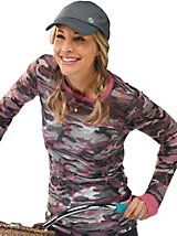 Women's Camo Top - burnout camo shirt | Sahalie